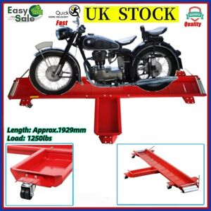 Motorcycle Dolly Motorbike Side Stand Parking Mover Scooter 1250lb Heavy Duty UK