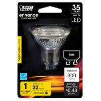 FEIT Electric  MR16  GU10  LED Bulb  Bright White  35 Watt Equivalence 1 pk