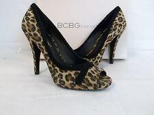 BCBGeneration BCBG Size 7.5 M Cierra Leopard Suede Heels New Womens Shoes