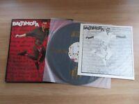 BALTIMORA LIVING IN THE BACKGROUND RARE KOREA ORIG LP INSERT 1986 Italo Disco