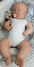 "Full Limb White reborn doe suede doll body. Joseph Realborn 3mth 24-25"""