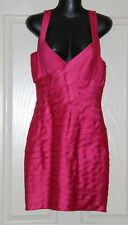 Womens size 6 hot pink bandage style mini dress made by COCKTAIL