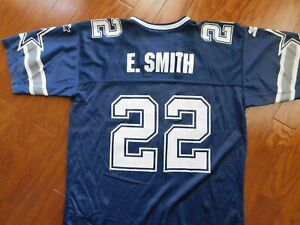 Vintage 90's Starter Dallas Cowboys Emmitt Smith Youth XL 18-20 Blue Jersey