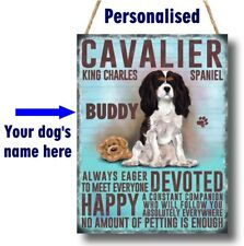 PERSONALISED Cavalier King Charles Dog Breed Plaque Sign gift ANY NAME wall door