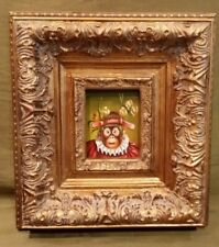 """Monkey Oil Painting 3.5"""" x 2.75""""  Framed"""