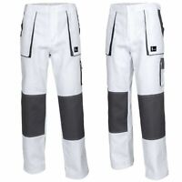 Men Work Trousers Pants, Painters, Decorators, White New Cotton - WHITE