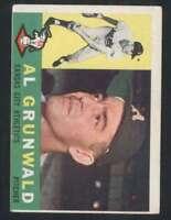 1960 Topps #427 Al Grunwald VG/VGEX RC Rookie Athletics 48591
