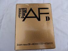 NIKON AF NIKKOR 28-80MM F3.5-5.6 D ZOOM LENS