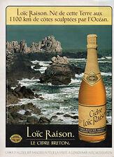 Publicité Advertising 1996   LOIC RAISON Le Cidre Breton Certifié