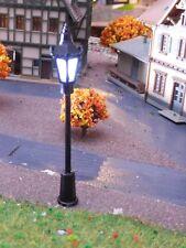 10 schwarze Laternen, Lampen, 70 mm hoch, warmweiße LED