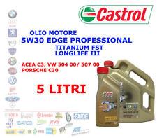5 LT OLIO MOTORE 5W30 CASTROL EDGE PROFESSIONAL LONGLIFE 3 TITANIUM FST ACEA C3