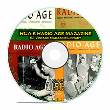 RCA Radio Age, 63 Classic Old Time Radio OTR Magazine Collection PDF CD B78