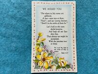 We Missed You...Vintage Come to Church Postcard