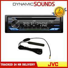 JVC Car Stereo Media Player DAB+ Radio CD Amazon Alexa Spotify USB + Aerial