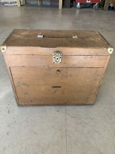 Vintage 7 Drawer Wooden Machinist Toolbox Made By Union