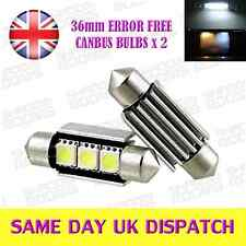 2 x 3 LED SMD 36mm Number Plate Canbus Bulbs White Audi TT A3 A4 A6 A8 Q7
