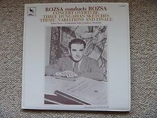RARE! ROZSA Conducts Concert Overture/3 Hungarian VARESE SARABANDE 81058  NM