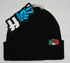 Neff MOOSE PRO Black Knit Cuffed/Uncuffed Beanie Hat Sz OS **