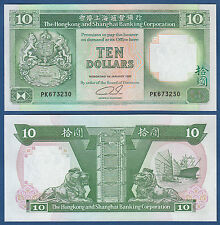 HONGKONG / HONG KONG  10 Dollars 1992  UNC  P.191 c