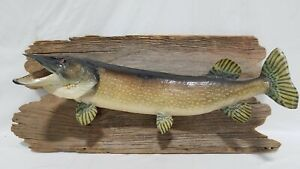 """Vintage Taxidermy Northern Pike Approx. 38"""""""