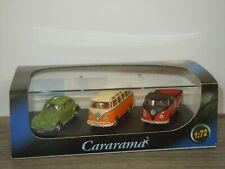 VW Volkswagen Beetle / Samba / T1 Pick-Up - Cararama Gift Set 1:72 in Box *44448