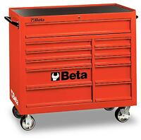 Beta Tools C38R Mobile Roller Cabinet Tool Box 11 Drawers Roll Cab Red Rollcab