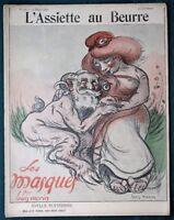 """L'Assiette au Beurre #50 """"Les Masques"""" Society's Masks 1902 French Satire Art"""