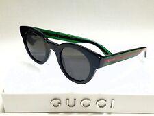 Authentic GUCCI GG0002S 002 Black Green/Green Lenses Men's 46mm Sunglasses