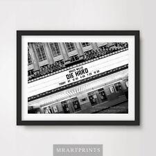 DIE HARD Art Print Poster Cinema Sign Marquee Movie Film Wall Decor Bruce Willis