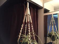 Macrame Plant Hanger PEARL 4 Walnut  BEADS