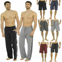 2 Pack Mens Pyjamas Bottoms Short / Long Nightwear Lounge Pants Joggers Shorts