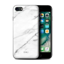 Personalised Marble Phone Case/Cover for Apple iPhone Initial/Text/Name/Custom
