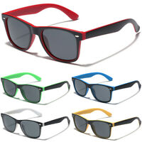 Retro Vintage Horned Rim Square Sunglasses Men Women Fashion Multi-Color Glasses