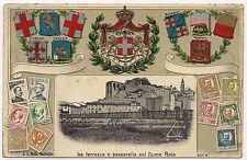 1900 - Ventimiglia - Terrazza e passarella sul fiume Roia. In rilievo