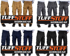 MENS TUFF STUFF HEAVY DUTY COMBAT WORKWEAR TROUSERS WITH KNEE PAD POUCHES  PPE