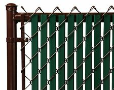Chain Link Green Double Wall Tube™ Privacy Slat For 6ft High Fence Bottom Lock