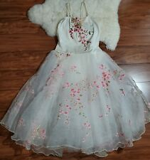 Costume Gallery Dance Dancer Outfit Dress Small Adult Cherry Blossom Embroidery
