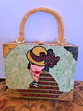Cigar Box Purse w/Lady on Front Double Romeo Cigar