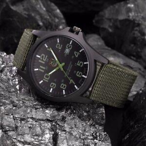 Men's Watch Stainless Steel Military Sports Outdoor Analog Quartz Wristwatch