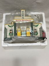 Dept 56 Snow Village Holly Brothers Garage With Original Box