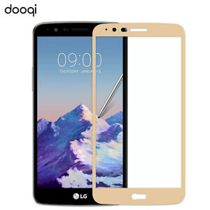 Dooqi Full Coverage Tempered Glass Screen Protector for LG Stylo 3 Plus