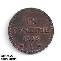 Un 1 Centime 1848 A - France Frankreich Republique Francaise