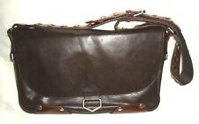 Men's GUESS Marciano Brown Messenger Laptop Faux Leather Briefcase Bag