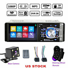 "4.1"" Bluetooth Stereo Car Radio 1DIN HD MP3 MP5 Player USB AUX FM In-Dash Camera"