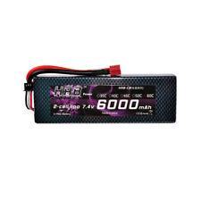 HRB 7.4V 2S 6000mAh Lipo Batterie Hardcase 60C-120C RC Traxxas Akku