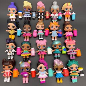 Lot 20X Random Dolls with Random Dress Shoes Bottle Gift 405