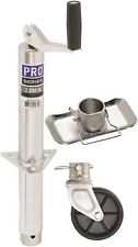 "ProSeries Round 2000lb A-Frame Trailer Jack 14"" Lift Zinc W Footplate & 6"" Wheel"