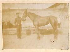 LIBOURNE ? LE MANS ? TOUTE PETITE PHOTO 15° RGT DRAGONS MILITAIRE & CHEVAL 1890