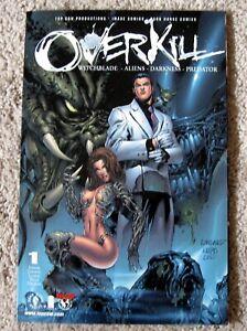 OVERKILL WITCHBLADE / ALIENS / DARKNESS / PREDATOR #1 (2000, Image / Top Cow)