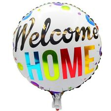 """Welcome Home foil balloon round 18"""" 45cm"""